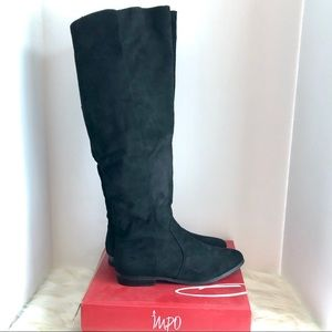 Impo over the knee black boots size 10